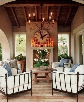 Great back porch and Fireplace