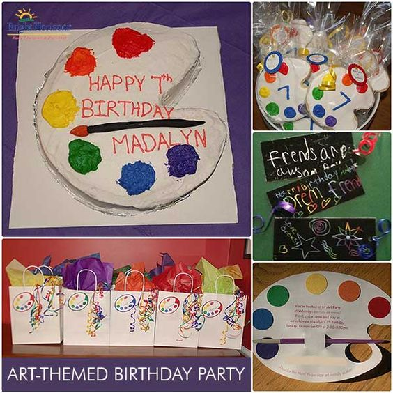 7th birthday party art theme kids party theme mary 39 s for Craft birthday party places
