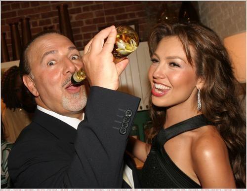 Thalia e seu marido Tommy Mottola- 2007