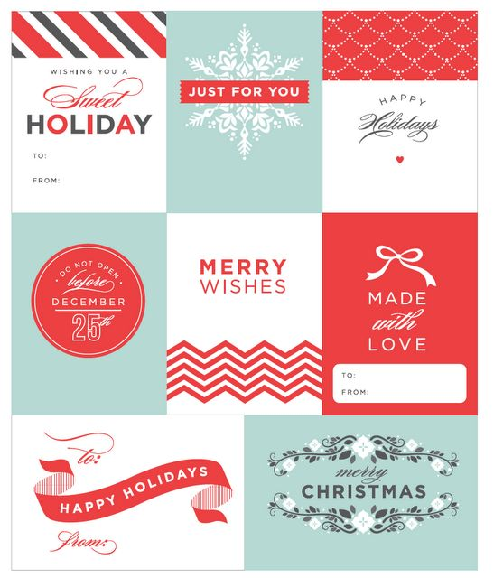 free download- gift tags