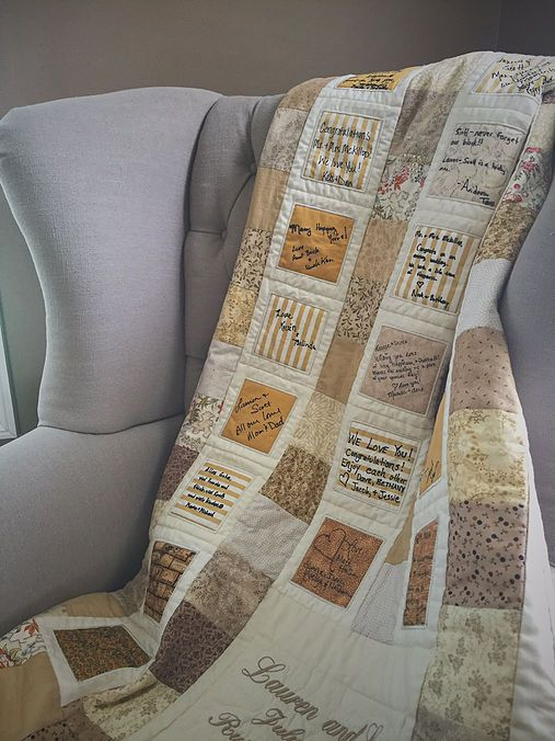 Sew In Love: Alternative to the Traditional Guest Book | Quilt Guest Book                                                                                                                                                      More