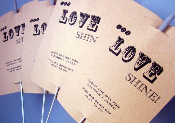 Rustic Let Love Shine Sparkler Sendoff by LollipopsAndPussycat, $15.00