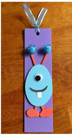 Bookmark craft crafts and markers on pinterest for Bookmark craft for kids