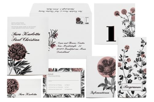 Florale Hochzeitskarten - so dekorativ!!! | Design: Paper & Soul: Wedding Stationery, Set Summergarden, Design Paper