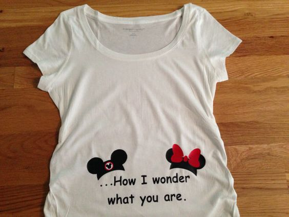 This is a perfect shirt for a gender reveal party or if you are keeping the gender a surprise ! Have everyone guessing as you show off your