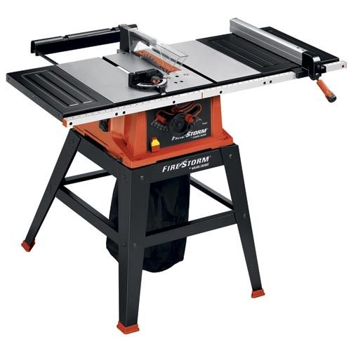 Firestorm 10 Inch 15 Amp Table Saw With Stand Fs210ls Tool Scrapbook Layouts