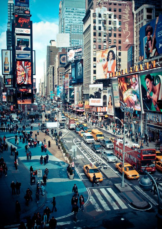 times square action - new york city by pamela ross, on Flickr