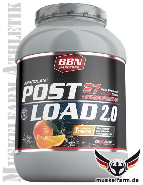 Best Body Nutrition Anabolan Post Load 2.0 All-In-One Postworkout Shake, ideale Versorgung nach dem Training, perfekter Mix aller wichtigen Nährstoffe.