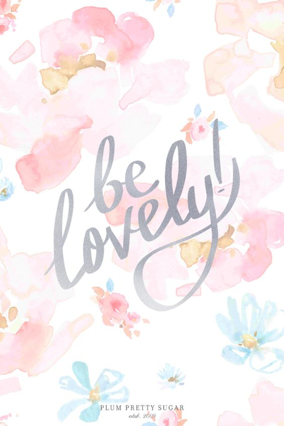Pretty Watercolour Pastel Floral Be Lovely Quote Iphone