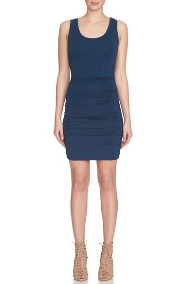 1.STATE Ruched Body-Con Dress