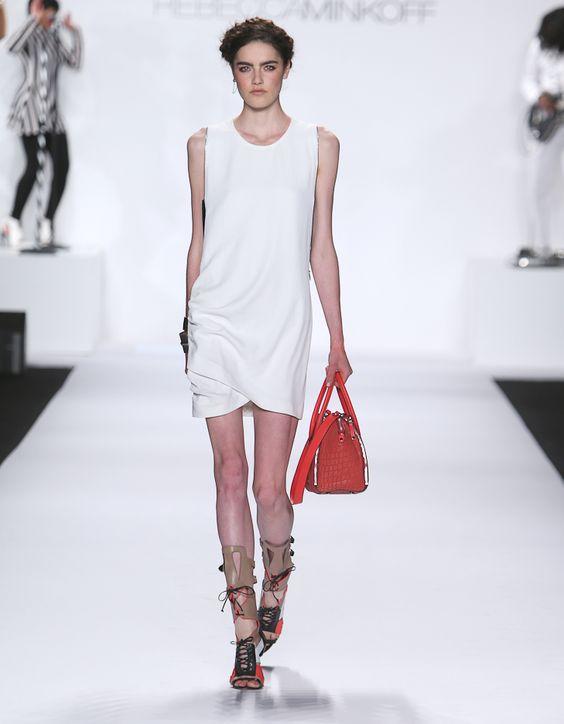 Rebecca Minkoff Look 17: Tokyo Passion Avenida Dress in Chalk