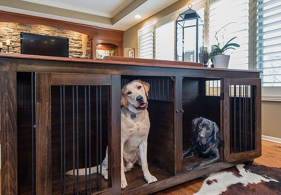 Xl Double Custom Kennel Perfect For Two Lovely Labs Wooden Dog Kennels Dog Kennel Furniture Large Dog Crate
