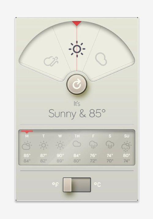weather app, WTHR, by Visual Designer David Elgena.