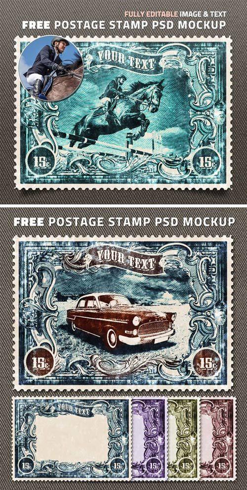 Postage Stamp Mockup Psd Free Psd Templates Postage Stamps Psd Template Free Free Graphic Design