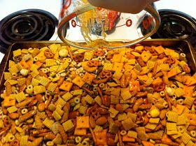This is a very easy mix to throw together and is good to bring to parties, or to keep at home for your own snacking pleasure :) I made quit...