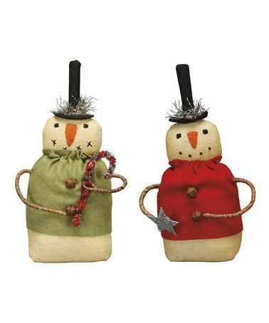 Take a look at this Sweater Snowman Pair Doll Décor Set by Primitives by Kathy on #zulily today!