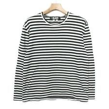 Comme des Garcons cut black x white (border) Size L cool JUNYA WATANABE F/S