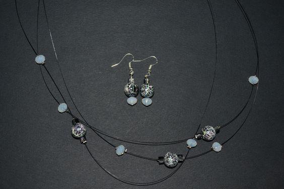 collier et boucles d'oreilles Opale Isis Christine Monsion