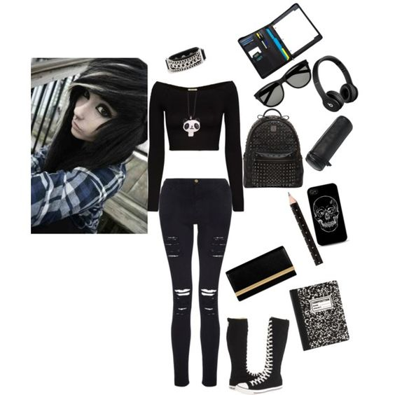 Back To Emo School - Polyvore | D.I.Y Inspiration | Pinterest | Hot Topic Back To And Emo
