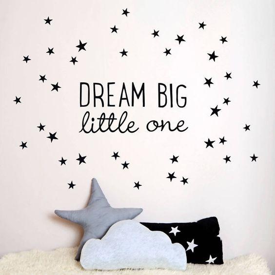 dream big little one wall sticker by koko kids | notonthehighstreet.com