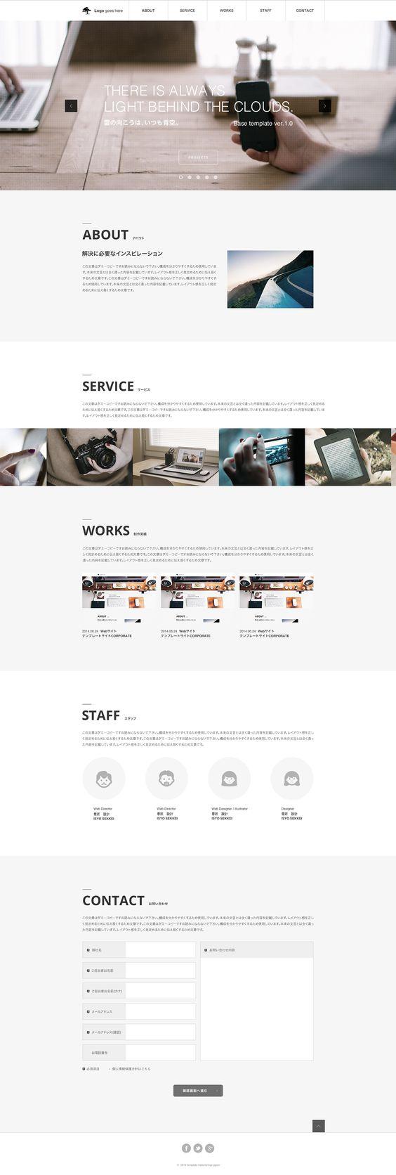 Web Design PSD Template ver.0.5 on Behance