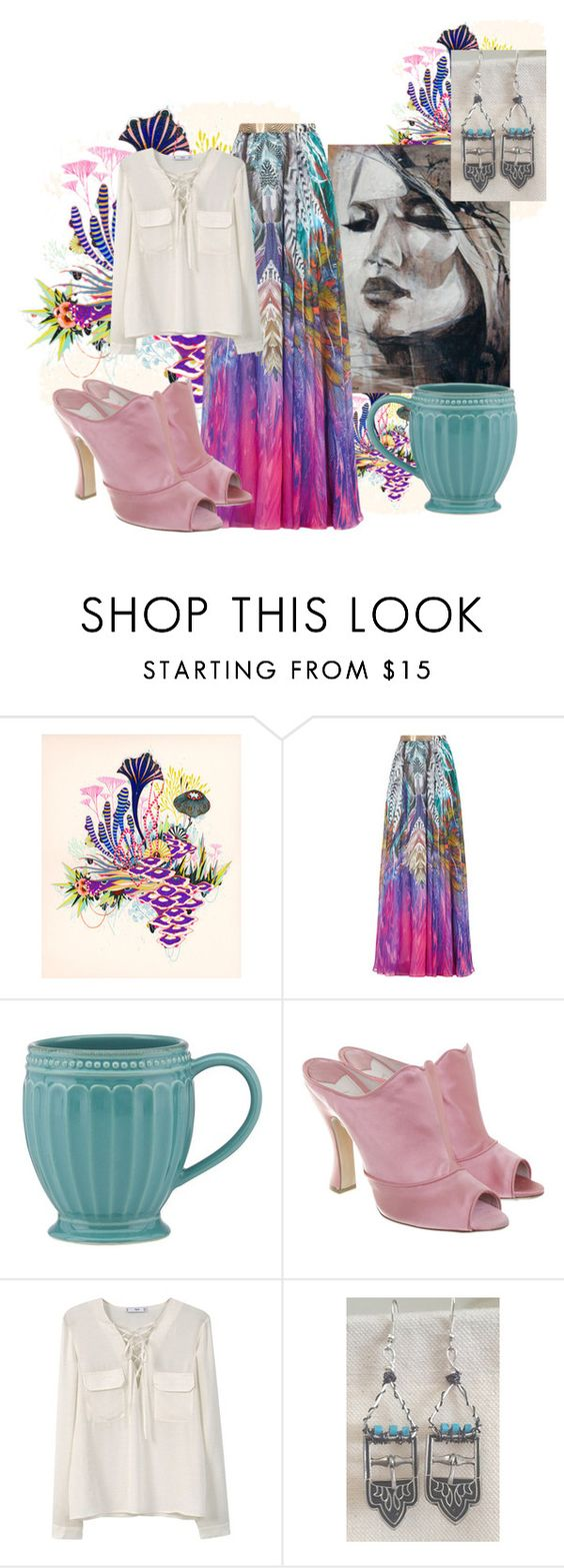 """""""Bohemian Chic & Aclaire Designs' Earrings"""" by aclaire ❤ liked on Polyvore featuring Lenox, Miu Miu, MANGO and aclaire"""