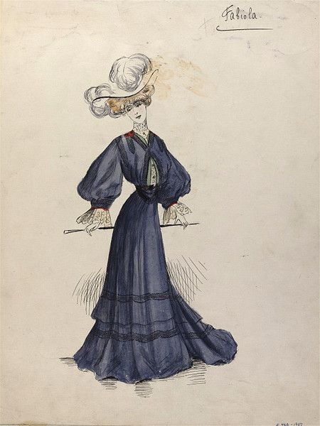 A design of Madame Jeanne Paquin from 1904-1903. V&A. Accession Number: E.740-1957