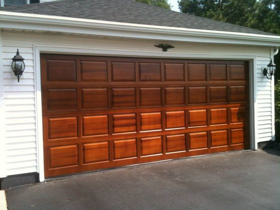 Clopay Classic Collection Raised Panel Wood Garage Door In
