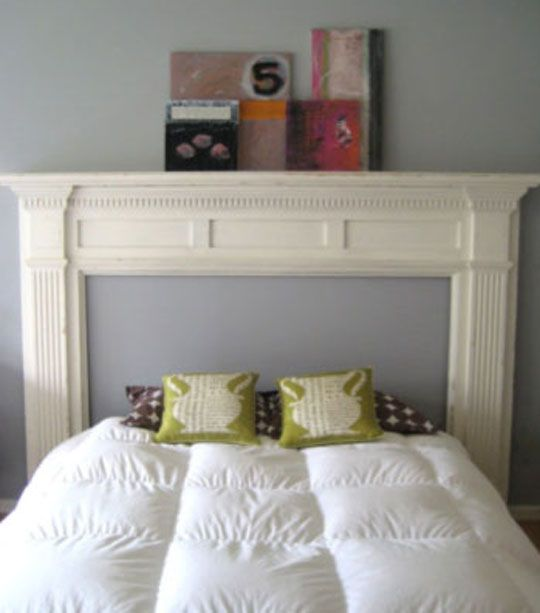 Bedroom Furniture Layout Square Room Bedroom Decoration With Flowers Log Bed Bedroom Ideas Cool Bedroom Wall Art: Look!: DIY Mantelpiece Headboard