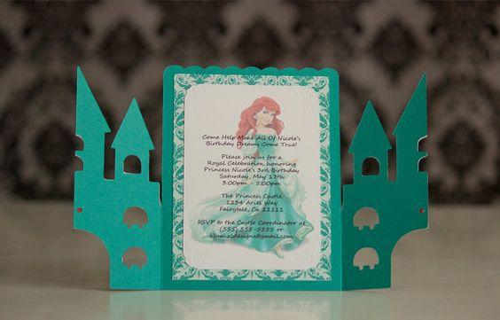 Princess Ariel from the Little Mermaid, Birthday Invitations!