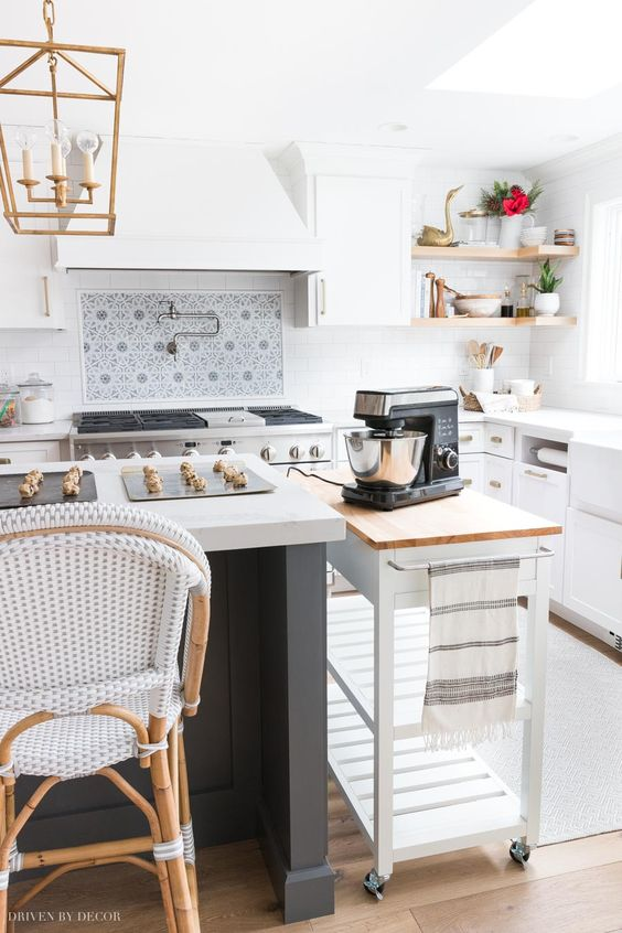 A-kitchen-cart-is a-great-way-of-adding-extra-storage-and-organization
