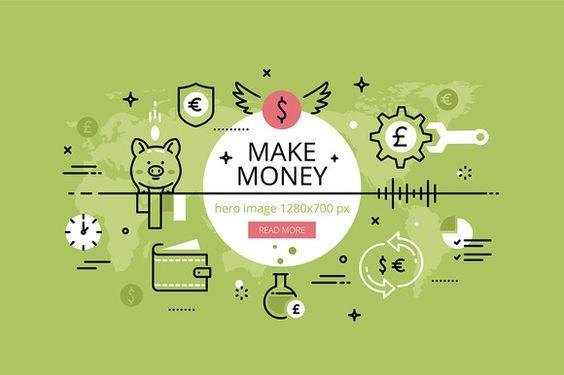 Make money hero banners set  @creativework247