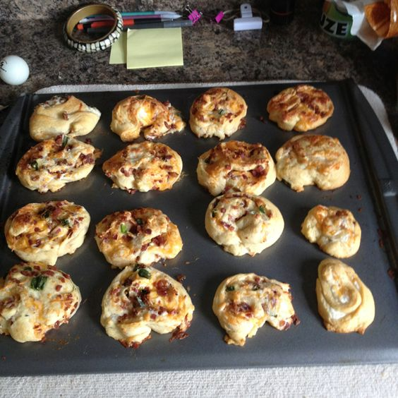 Ranch cheese and bacon crescents.