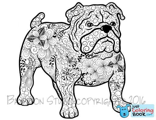 Coloring Bulldog Watercolor Coloring Pages Print Free Pictures