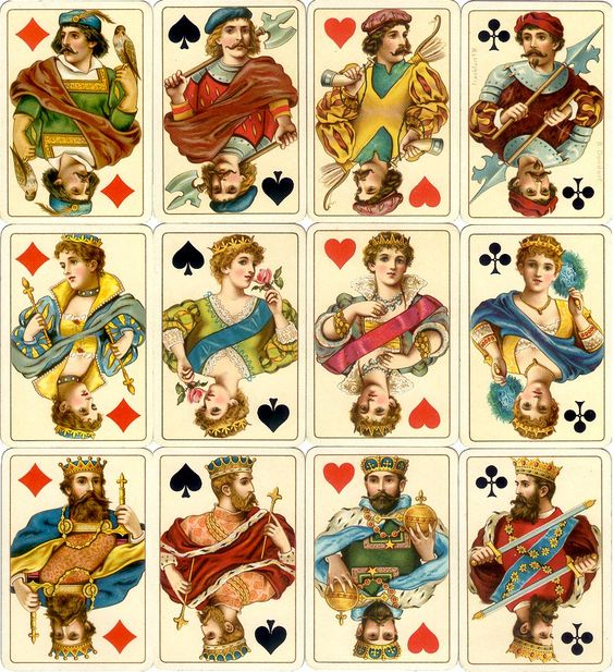 Dondorf's 'Rokoko' No.158 playing cards printed by chromolithography: