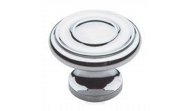 Baldwin Hardware - 1 1/4 inch Diameter Dominion Knob in Polished Chrome - ( 4491.260.BIN )
