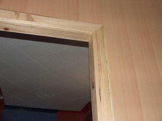 encadrement porte du bureau avec baguette d 39 angle pour. Black Bedroom Furniture Sets. Home Design Ideas