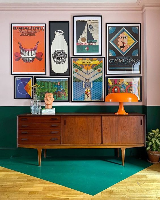 Decoracion Paredes Estilo Vintage In 2020 Retro Interior Retro Interior Design Decor