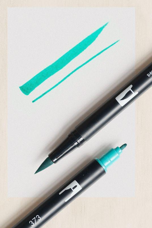 Tombow Dual Tip Blendable Brush Pen Sea Blue