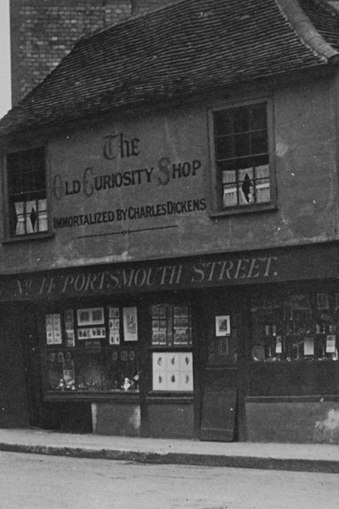 The shop that gives its name to Dickens's novel The Old Curiosity Shop can be found at 13-14 Portsmouth St. The building itself dates back to the 16th Century, however, the name was added to the shop front after the novel was released.