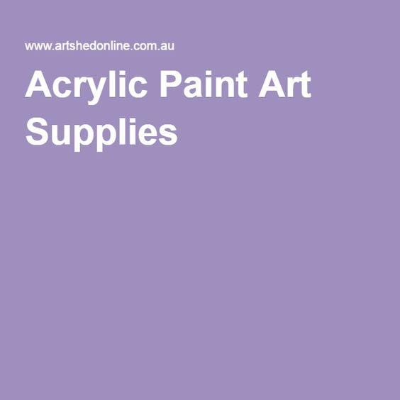Acrylic Paint Art Supplies