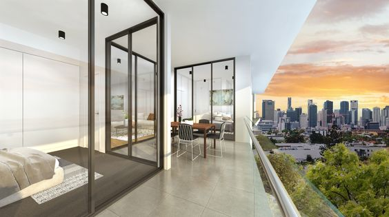 The stunning view from one of the three bedroom apartments in Soko Waterfront Apartment complex.