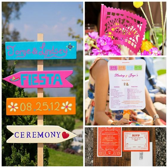 Fiesta! Mexican Themed Wedding Inspiration | Mexican themed ...