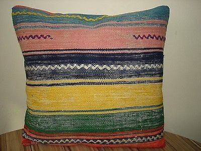 """Authentic Turkish Kilim Antiques Rug Pillow Cover 16"""" x 16""""   eBay"""