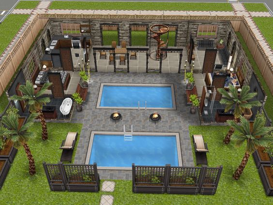 Variation on an awesome house design i saw on pinterest level 1 thesims freeplay - Sims freeplay designer home ...