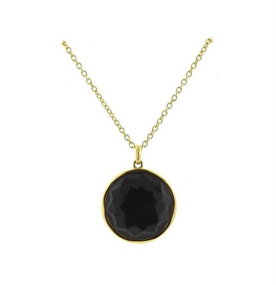 Ippolita 18k Gold Lolipop Hematite Quartz Pendant Necklace Featured in our upcoming auction on November 17!