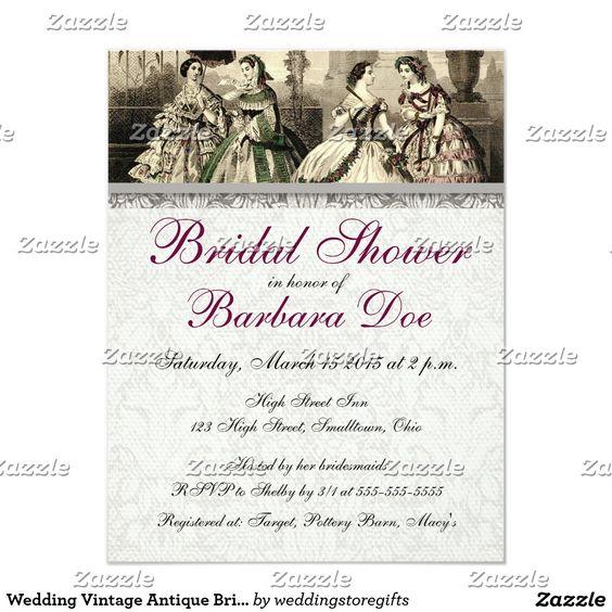Wedding Vintage Antique Bride Card