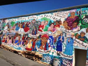 Gorgeous mural honoring #Portland's #women history makers.
