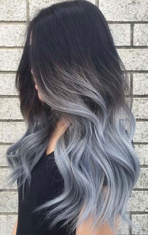 Best Ombre Hairstyles Blonde Red Black And Brown Hair Love Ambie Hair Styles Grey Hair Color Silver Grey Ombre Hair