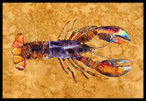 Lobster Indoor or Outdoor Mat 18x27 Doormat